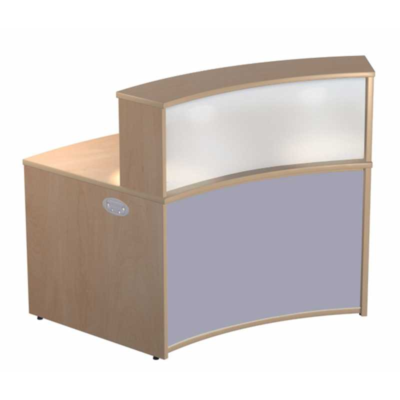 Concave reception unit with frosted acrylic counter top for Acrylic bar top