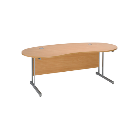 Kidney shaped desk with cantilever frame - Kidney shaped office desk ...