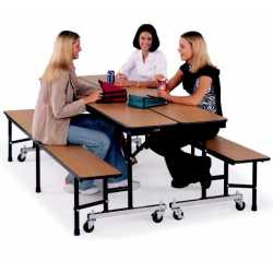 Mobile Convertible Folding Bench Unit.