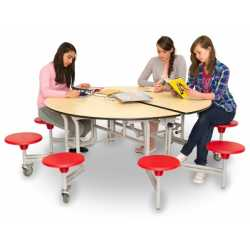 Circular Mobile Folding Table Unit