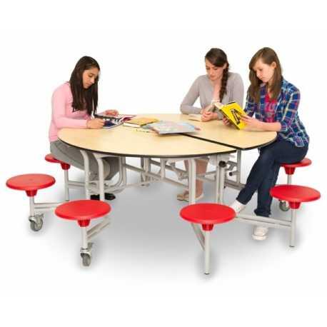 Circular Mobile Folding Table Unit