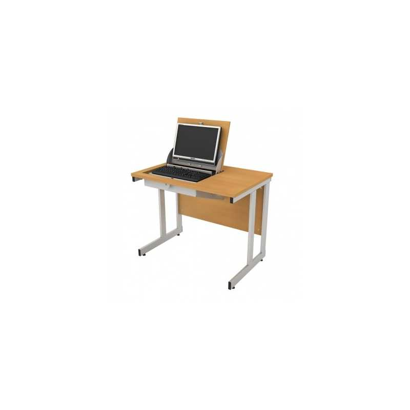 Smart top ict desks single user computer desks for Flip top computer desk