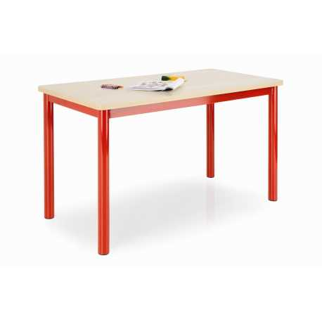 Rectangular Classroom Table with Coloured Legs