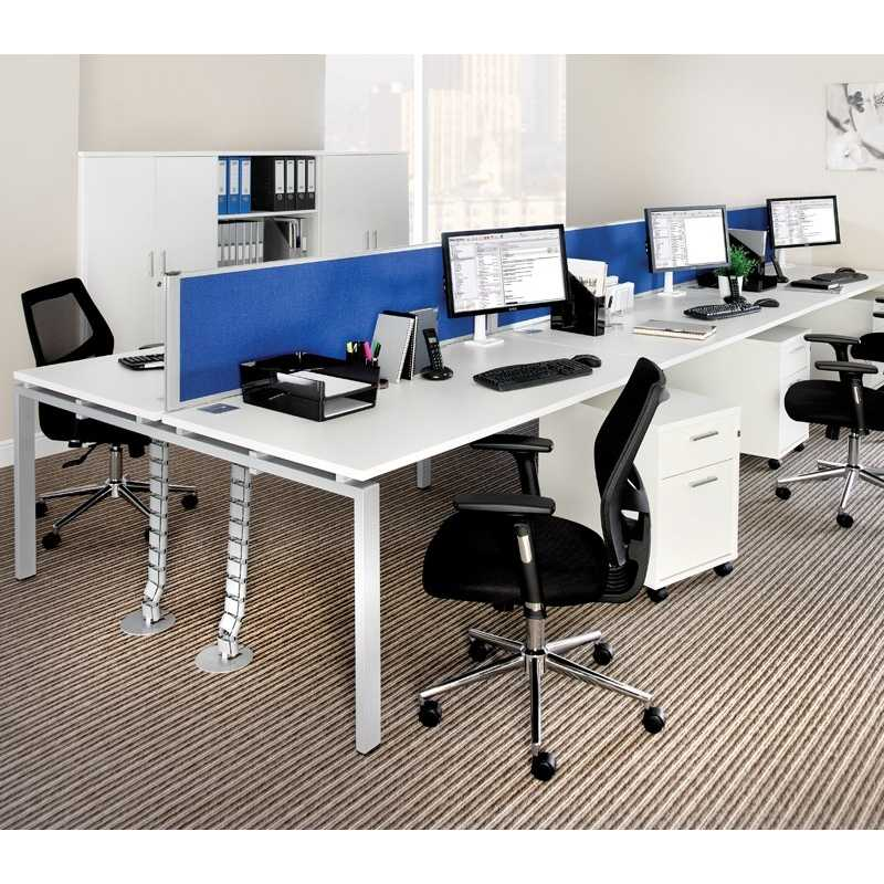 Adapt two bench desk back to back configuration for Home office configurations
