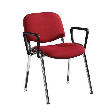 Taurus Fabric Armchair with Chrome Frame