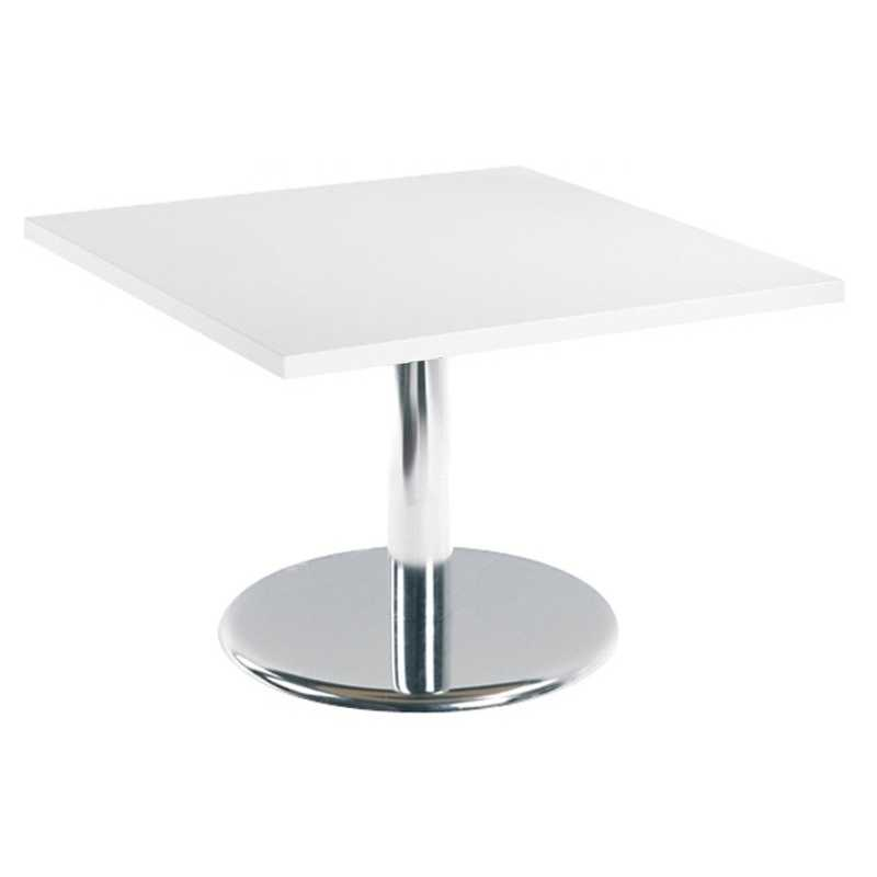 Square or Rectangular Reception Coffee Table with Chrome ...
