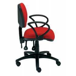 Student Medium Back Gas Lift Swivel Chair with Non Removable Parts