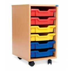 Single Bay Classroom Storage Unit 6 Trays