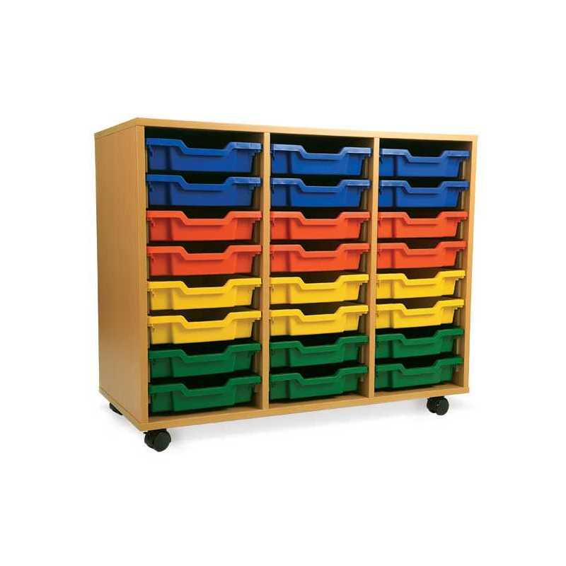 d3d94fe55956 3 Bay Classroom Storage Unit 18 or 24 Trays