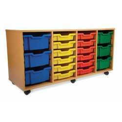 4 Bay Classroom Storage Unit 24 Trays