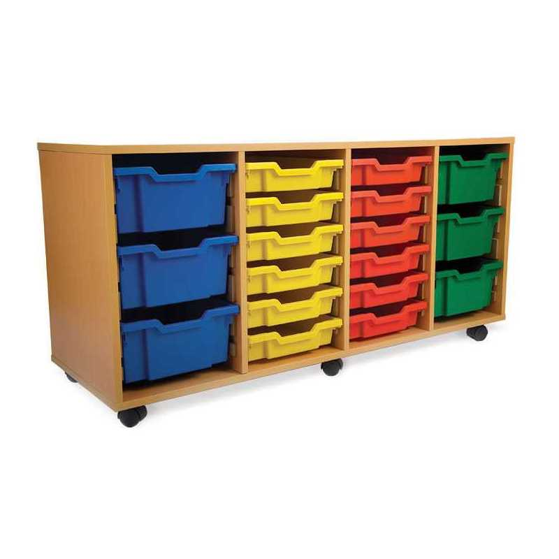 4 bay classroom storage unit 24 trays for Storage bay
