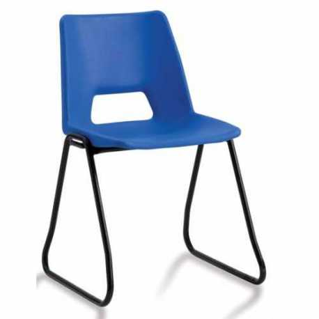 Plastic Classroom Chairs With Skid Frame
