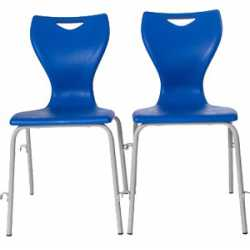EN12 4 Leg Classroom Chair with Linking Frame