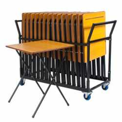 25 Exam Desk & Trolley Bundle