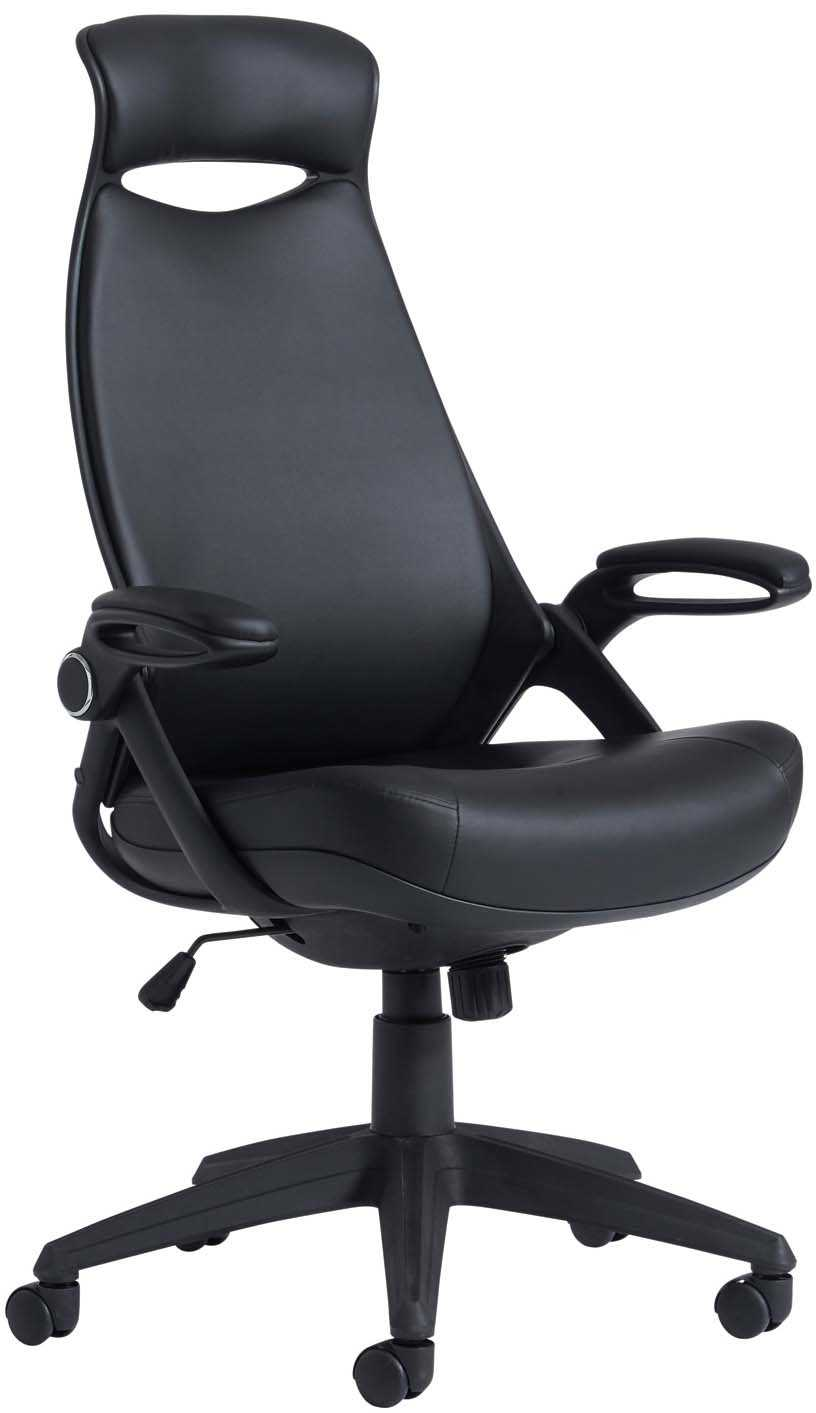 unique leather faced office chair