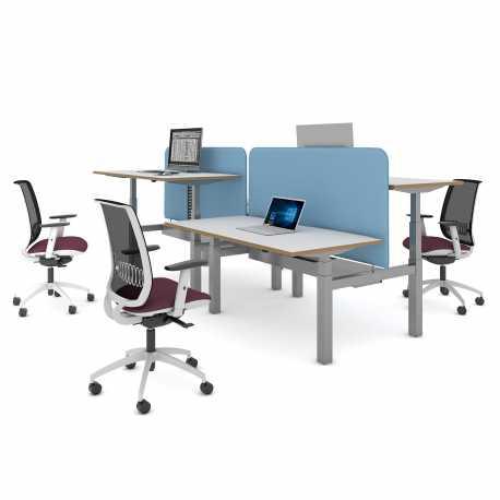 Sit Stand Desk >> Elev8 Back To Back Sit Stand Desk 2 Person Height Adjustable Desks
