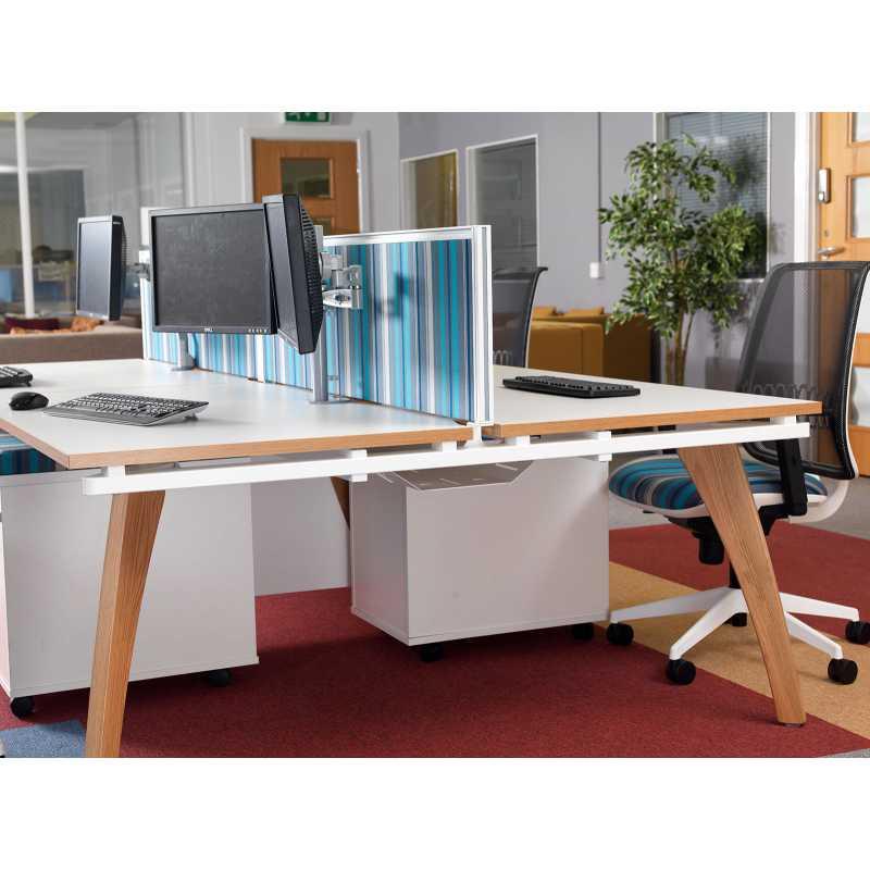 Fuze Double Back To Back Desks Bench Desks For 4 People