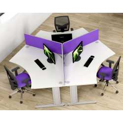 Atmosphere Delta 3 Person Cluster Desks