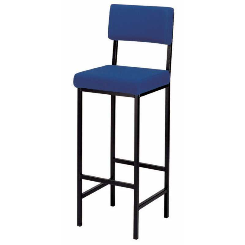 High Stool With Upholstered Seat Amp Back Support